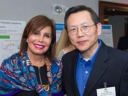 Norma Russo, board member, GLA; Dr. Ying Zhang, Johns Hopkins University