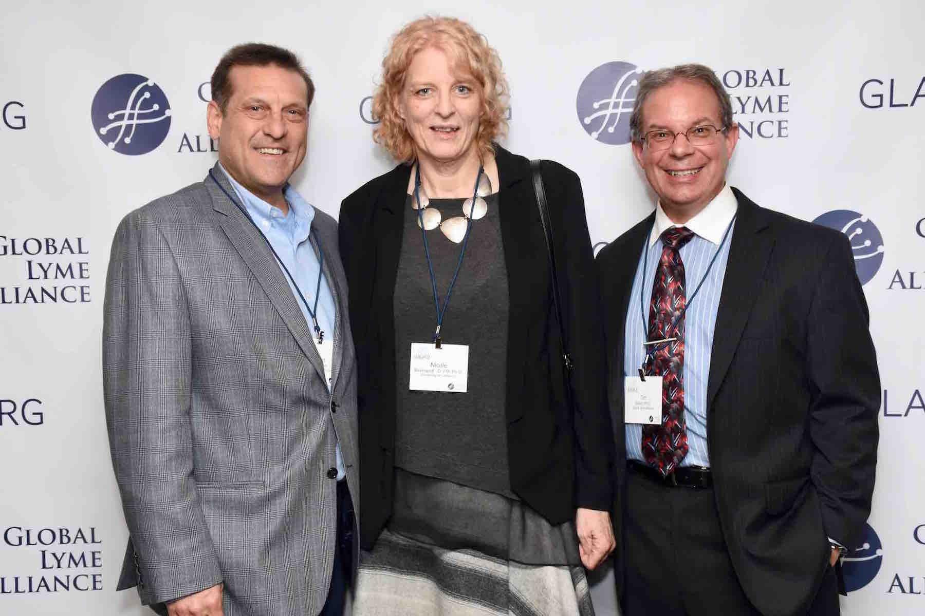 GLA CEO Scott Santarella, GLA grantee Dr. Nicole Baumgarth, GLA CSO Dr. Timothy Sellati