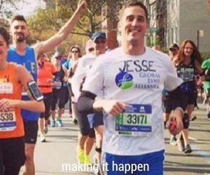 jesse running nyc marathon lyme