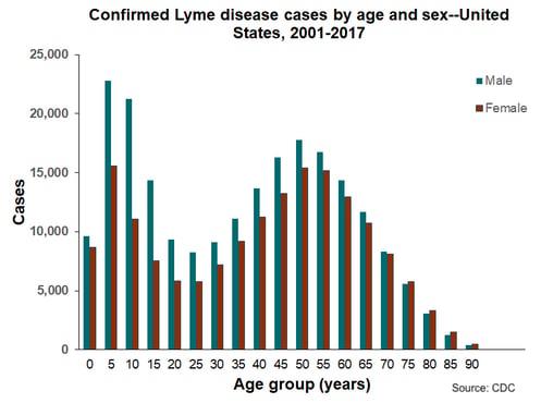 lyme disease cases_men_women_cdc